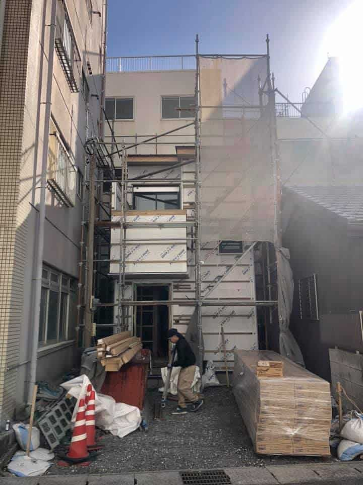 変形敷地の準耐火仕様の兼用住宅